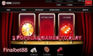 Ion Casino Hadirkan Permainan Casino Dengan Ragam Penyajian