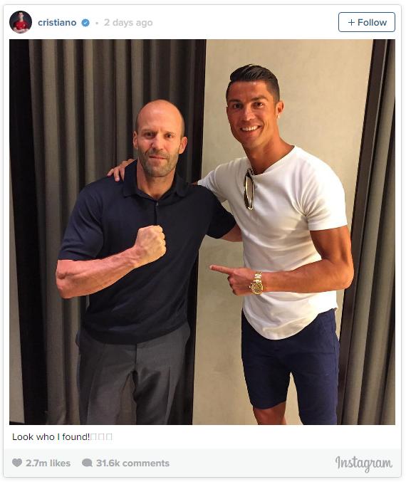 Cristian Ronaldo Memberi Kejutan Kepada Jason Statham